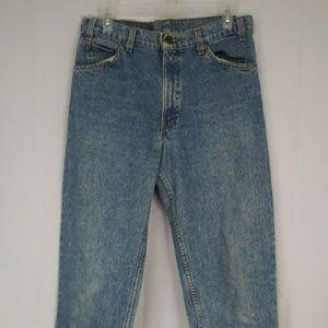 Levi's Mens San Francisco Orange Tab Jeans Vintage